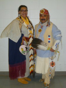 Headman and Headwoman Dancers Jose Landrie and Nemekas Ramirez, both Chippewa, from Seattle, Wash.