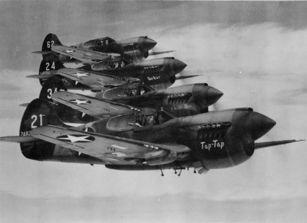 The United States Army Air Forces (USAAF) 78th Fighter Squadron, stationed at Midway from January 23 until April 21, 1943 in flight