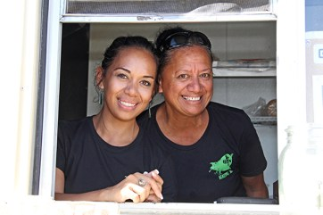 Green Pig owner Lihue Lopez and her daughter, Nanea Lopez.