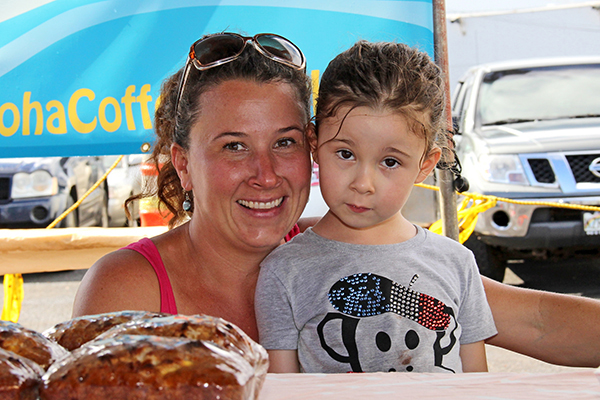 Aloha Coffee Truck co-owner Jessie Roden and her niece Soleil Robiteau.