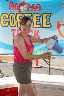 Aloha Coffee Truck co-owner Tara Robiteau.