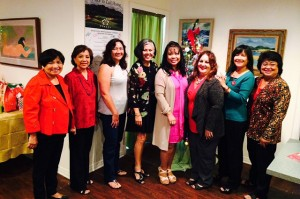 From left to right, Norma Doctor Sparks, Annabelle Portugal, Wendy Martinez, Edie Ignacio Neumiller, former Kaua'i Filipino Chamber of Commerce President Marynel Valenzuela, Cyndi Ayonon, Marites Yano and former Kaua'i Filipino Chamber of Commerce President Sonia Topenio.