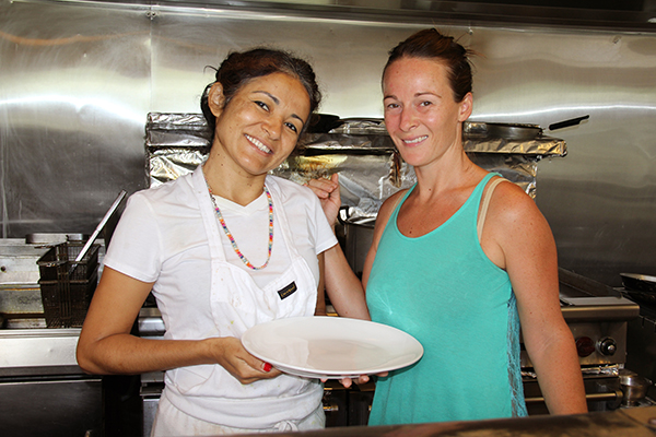 Neide's Salsa and Samba Restaurant in Hanalei is coming up with a brand new Brazilian menu. Neide, left, and Paula said you have to try the 'churrasco misto,' a delicious sampler of Brazilian style barbeque with steak, chicken, sausage and fries.