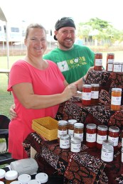 Kristine and Jay Vallandingham, of Mauka Girl Creations.