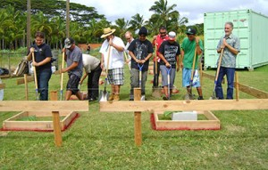 In September 2012, Kauaʻi Community College faculty, staff and students were joined by community partners to break ground for the college's affordable housing prototype project. The finished project received a blessing last week.