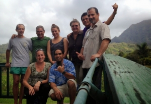 Makai Watch volunteers and DOCARE officers on Kaua'i. Photo by DLNR-Makai Watch