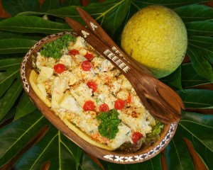 A breadfruit salad. Photo by Jim Wiseman