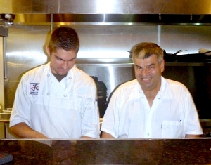 Jean-Marie Josselin, right, and one of his staff members are seen here at JO2's kitchen.