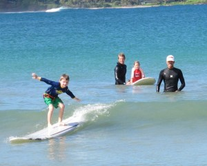 Sharing the joy of surfing.