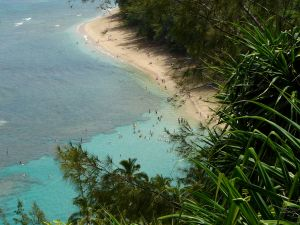 Ke'e Beach, Ha'ena State Park, Kaua'i's North Shore