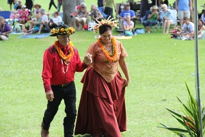 14-Kaluahi, played by Harrom Hookano Kaili, and Queen Emma, played by Nalani Ka'auwai Brun