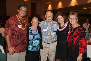 From left to right, George Costa, Sharron Weber, David Pratt, Sue Kanoho and Carol Pratt