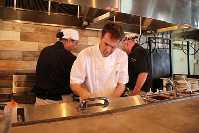 Aaron Leikam, owner and chef of Street Burger, uses 100 percent local beef, from grass-fed cattle.