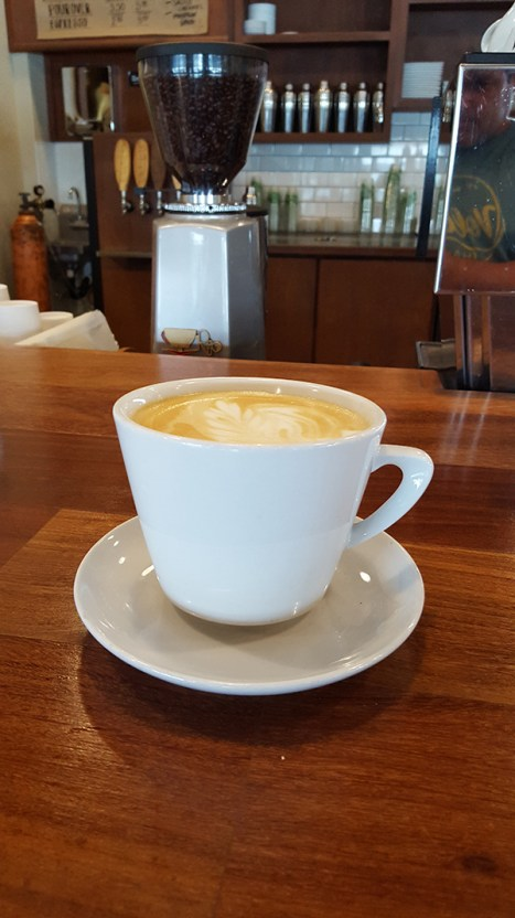A latte at Ha Coffee Bar in Lihu'e.