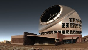 Artist's rendition of the side view of the TMT Complex. Courtesy of tmt.org