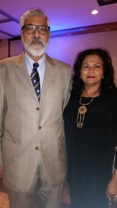 Dr. Bal with his wife, Muktha, at the award ceremony.