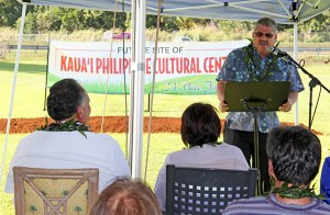 Kaua'i County Council Chair Mel Rapozo said when Lesther Calipjo asked him years ago for support for a cultural center, his answer was, 'we can't even get a toilet done in this county, you want to build a cultural center?'