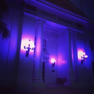 The Historic County Building in Līhu'e was lit in purple this week to honor National Crime Victims' Week.