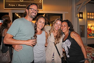 Left to right, Sean and Noelle McHugh, of Kilauea, Christina Zimmerman, of Princeville, and Lana Rose, of Anahola