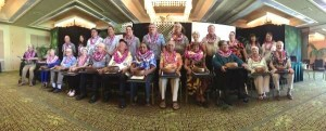 The nominees for Kaua'i's 2016 Outstanding Older American awards pose for a photo following the awards ceremony.
