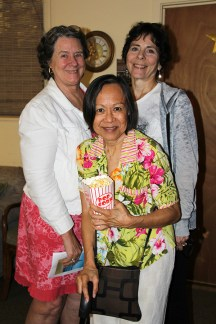 Left to right, Marge Wheil, Delia Valentia and Melissa Mojo