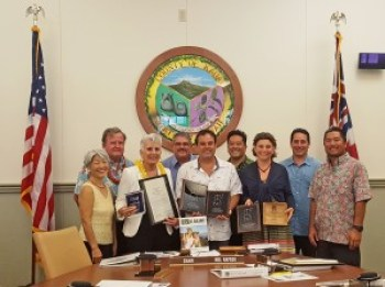 The Kaua'i County Council presented For Kaua'i Newspaper with a certificate Wednesday.
