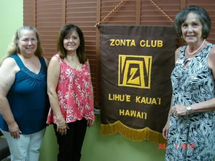 Newest Zonta Club of Kauai members