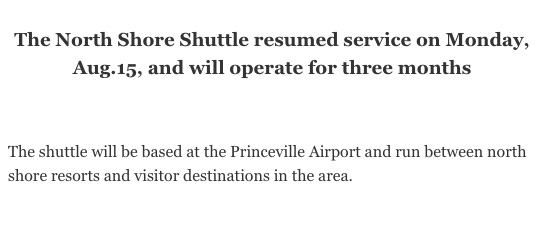 North Shore Shuttle Resumed for 3 Months - For Kauai OnlineThe North
