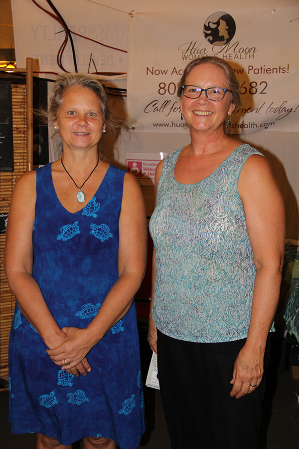 Donna Miller, left, of Seven Sisters Doula Collective, and Diane Decker, of Hua Moon Women's Health