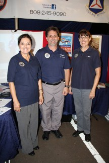 Left to right, Susan Caires, Tim Ferran and Valri Kriner, of the Civil Air Patrol