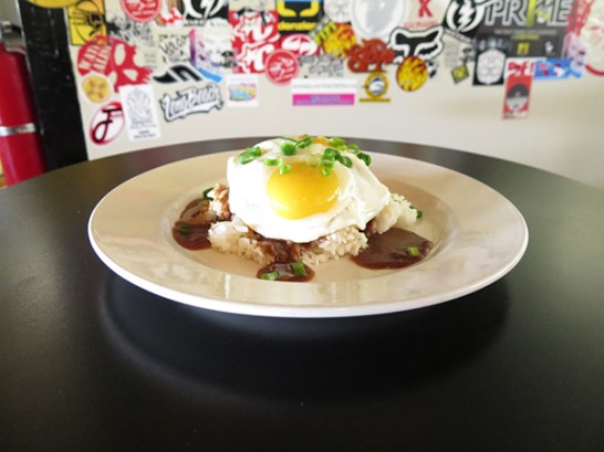 You can find this traditional Loco Moco on the breakfast menu, and the suppressed version on the Big Plates menu.