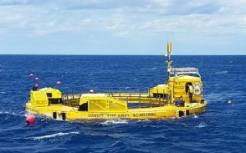 Lifesaver as it was being deployed, in late March 2016. Courtesy of Sea Engineering, Inc. Photo courtesy of UH