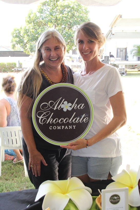 Joanna Carolan, of Aloha Spice Co., left, and Brandy Santos, of Aloha Chocolate Co.