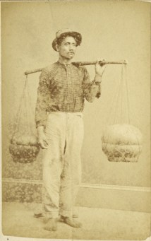 A Hawaiian poi dealer, circa 1870. Photo by Menzies Dickson/National Library of New Zealand