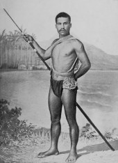 A Hawaiian fishermen, circa 1899.