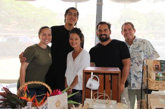 Moloa'a Bay Coffee and Chocolate crew, left to right, Amber McClure, Koloikeao Anthony, Kymy Lin, Adam Kline and Richard Lorero
