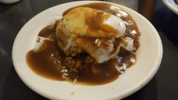The loco moco at Tip Top Cafe in Lihu'e.