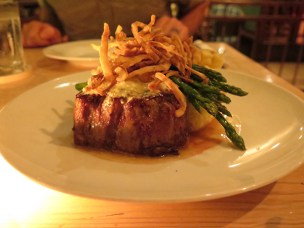 The Filet Mignon Special is a nighttime meal, and for island-grown beef, it's top notch.