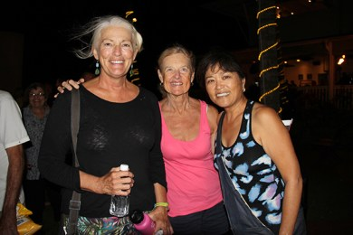 Left to right, Eileen Conrad, of Lawa'i, Kathy Evans, of San Diego, Calif., and Barbara Takashima, of San Diego, Calif.