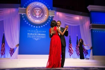 President Barack Obama and First Lady Michelle Obama dance together at the Commander in Chief Ball at the Walter E. Washington Convention Center in Washington, D.C., Jan. 21, 2013. Official White House Photo by Pete Souza