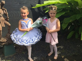 North Shore Princeville Community Center dance class students Ariana Welborn and Sophie Cornell after their showcase. Contributed photo