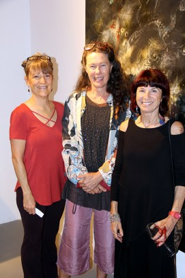 From left to right, Lori Potter, Anita Cook and Sally French