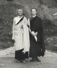 """This photo is of Jeremy Morrelli from many years ago when he was with my ultimate guru and meditation master Kalu Rinpoche. At that time, he says, he was """"in disguise"""" of a monk."""