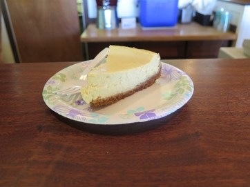 Steve's mom, Sheryl, makes all the desserts. Pictured is a Lilikoi Cheesecake. Creamy, sweet and tangy, it's unpretentious and full of the local lilikoi we love.