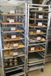 A rack of goodies is readily available for you.