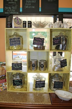 The tea selection at Haole Girl Island Sweets is extensive and delicious