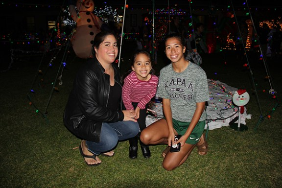 Left to right, Jlyn Espinosa, Kylee Espinosa and Malia Alonzo