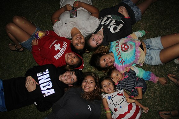Clockwise from bottom left, Spencer Brumen, Allauna Brumen, Bre Brumen, Abbey Brumen, Carina Brumen, Avei Ruvalcaba and Addison Ruvalcaba