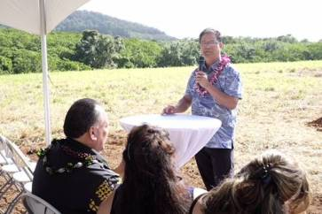 State Rep. James Tokioka was one of the dignitaries who addressing a crowd gathered at a blessing and groundbreaking of the treatment center. Contributed photo