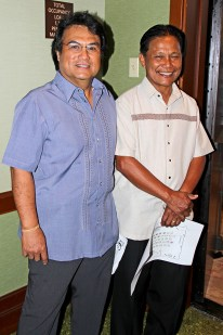 Eddie Topenio, left, and Edwin Navarro
